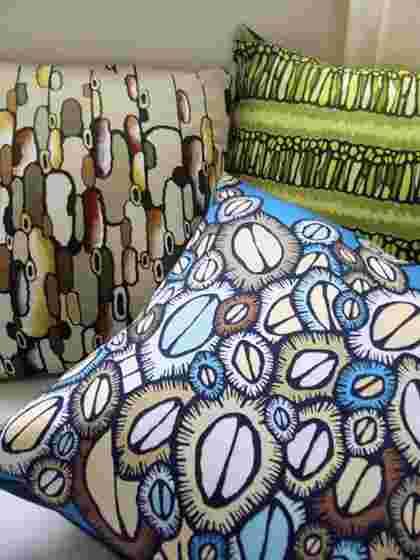 Digital fabric printing on cushions