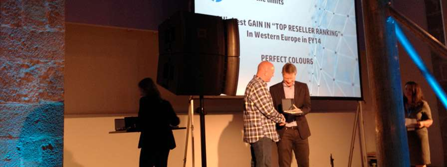 Perfect Colours 'Top Reseller Ranking' in Western Europe