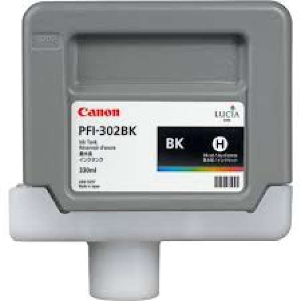 Canon PFI-302BK 330ml Photo Black