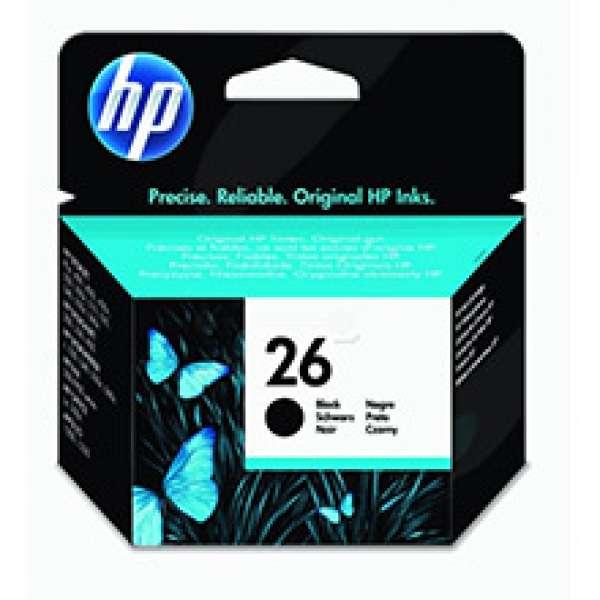 HP No. 26 Ink Cartridge Black - 40ml