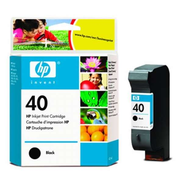 HP No. 40 Ink Cartridge Black - 42ml
