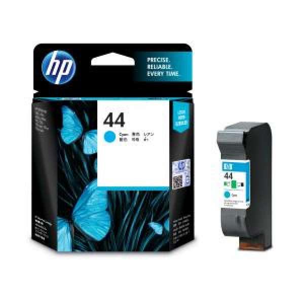 HP No. 44 Ink Cartridge Cyan - 42ml