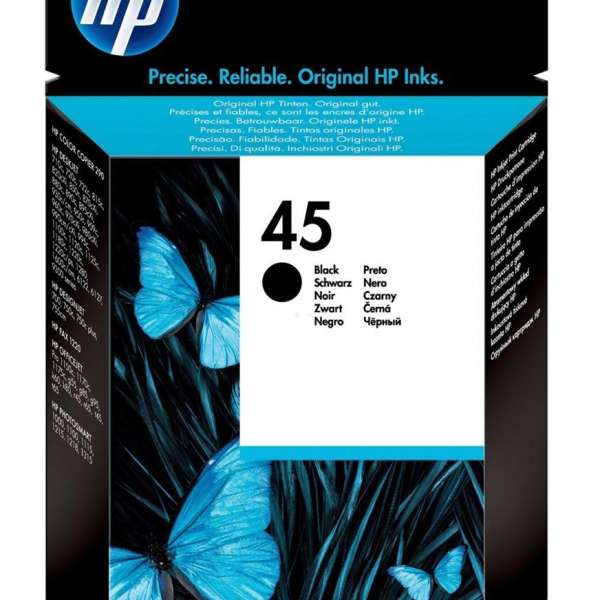 HP No. 45 Ink Cartridge Black - 42ml