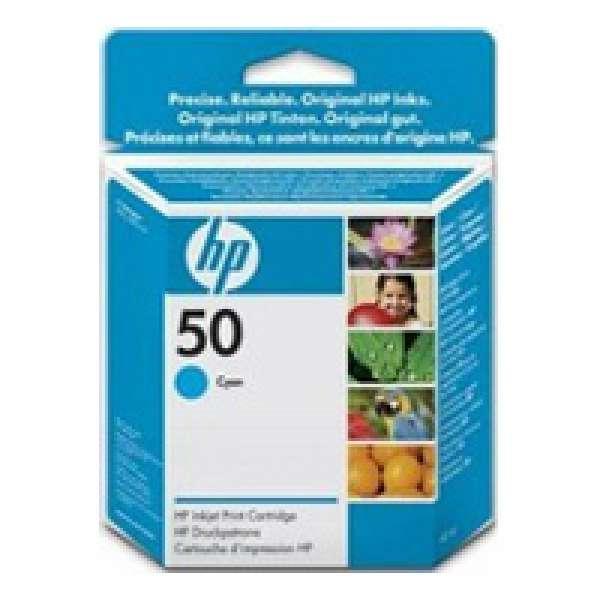 HP No. 50 Ink Cartridge Cyan - 42ml