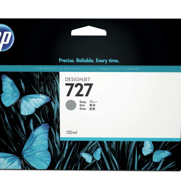 HP No. 727 Ink Cartridge Grey - 130ml