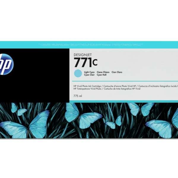 HP No. 771 Ink Cartridge - Light Cyan - 775ml