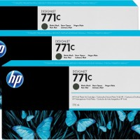 HP No. 771 Triple pack  - Matt Black - 775 ml