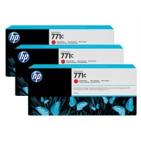 HP No. 771 Triple pack  - Chromatic Red - 775 ml