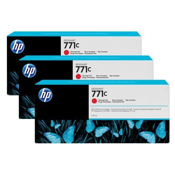 HP No. 771 Triple pack  - Chromatic Red - 775 ml