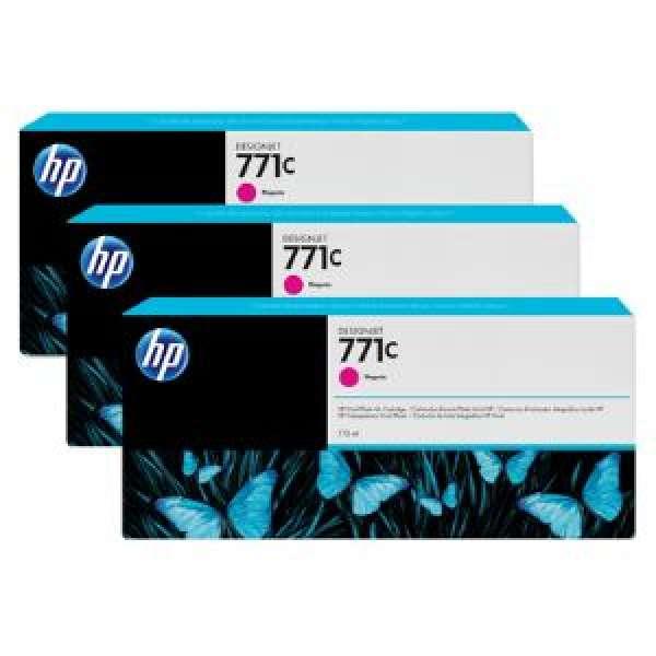 HP No. 771 Triple pack  Ink Cartridges - Magenta