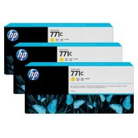 HP No. 771 Triple pack  Ink Cartridges - Yellow