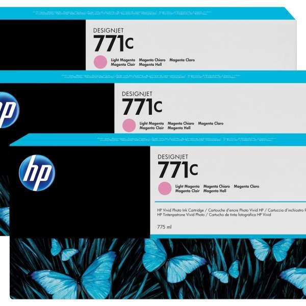 HP No. 771 Triple pack  Ink Cartridges- Light Magenta
