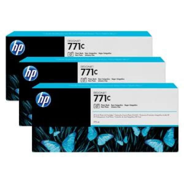 HP No. 771 Triple pack  Ink Cartridges- Photo Black