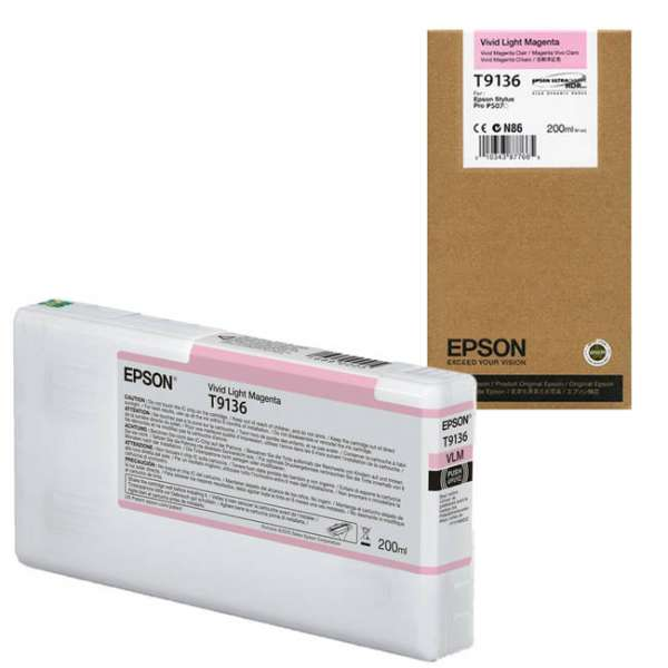 Epson T9136 Vivid Light Magenta Ink Cartridge 200ml