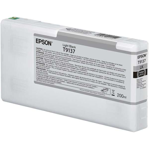 Epson T9137 Light Black Ink Cartridge 200ml