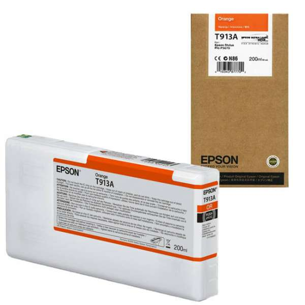 Epson T913A Orange Ink Cartridge 200ml