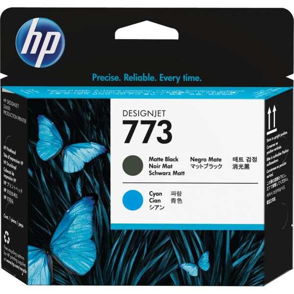 HP No. 773 Matte Black and Cyan Designjet Printhead