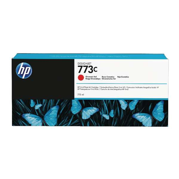HP No. 773C 775-ml Chromatic Red Designjet Ink Cartridge