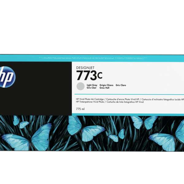HP No. 773C 775-ml Light Grey Designjet Ink Cartridge