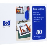 HP No. 80 Ink Printhead and Cleaner - Black