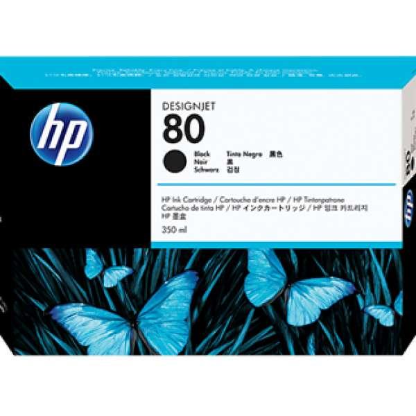 HP No. 80 Ink Cartridge Black - 350ml