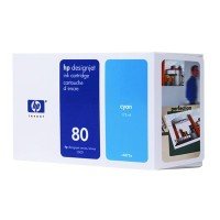 HP No. 80 Ink Cartridge Cyan - 175ml