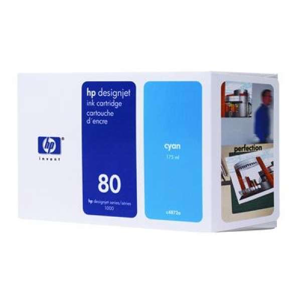 HP No. 80 Ink Cartridge Cyan - 175ml
