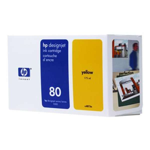 HP No. 80 Ink Cartridge Yellow - 175ml