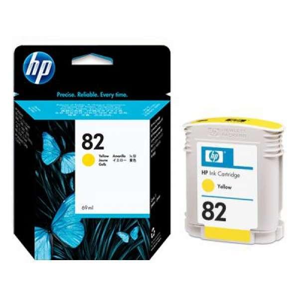 HP No. 82 Dye Ink Cartridge Yellow - 69ml