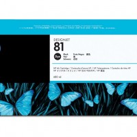 HP No. 81 Dye Ink Cartridge Black - 680ml