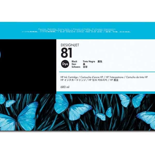 HP No. 81 Dye Ink Cartridge Black - 680ml