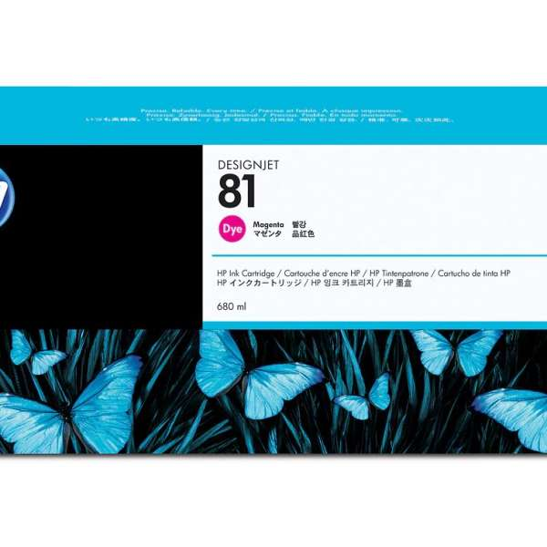 HP No. 81 Dye Ink Cartridge Magenta - 680ml