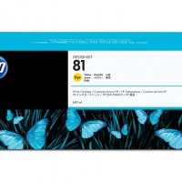 HP No. 81 Dye Ink Cartridge Yellow - 680ml