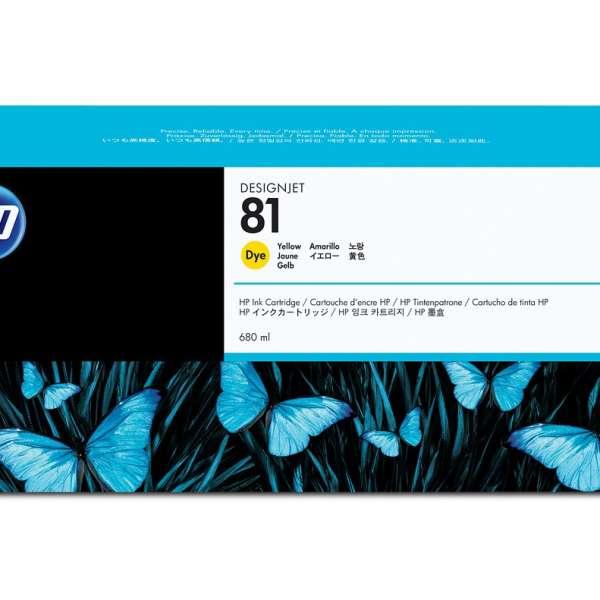 HP No. 81 Dye Ink Cartridge Yellow - 680ml