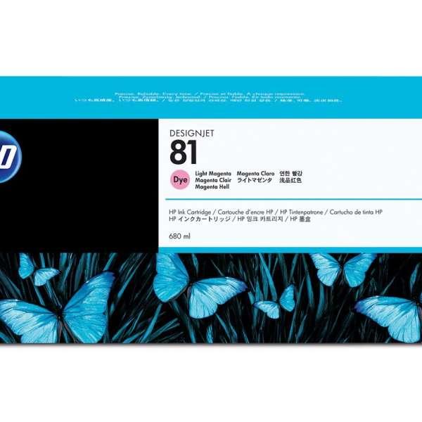 HP No. 81 Dye Ink Cartridge Light Magenta - 680ml