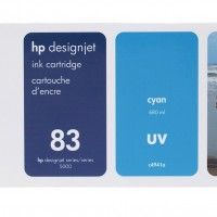 HP No. 83 UV Ink Cartridge Cyan - 680ml