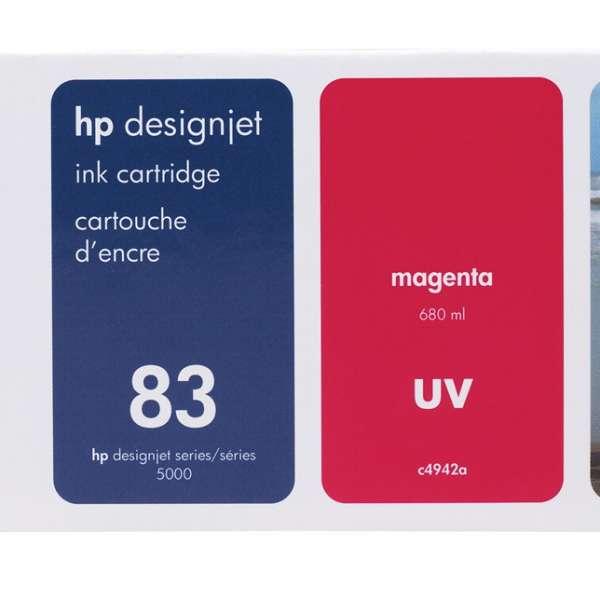 HP No. 83 UV Ink Cartridge Magenta - 680ml