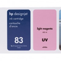 HP No. 83 UV Ink Cartridge Light Magenta - 680ml