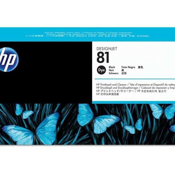 HP No. 81 Dye Ink Printhead and Cleaner - Black