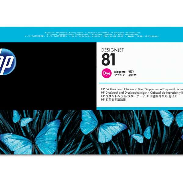 HP No. 81 Dye Ink Printhead and Cleaner - Magenta