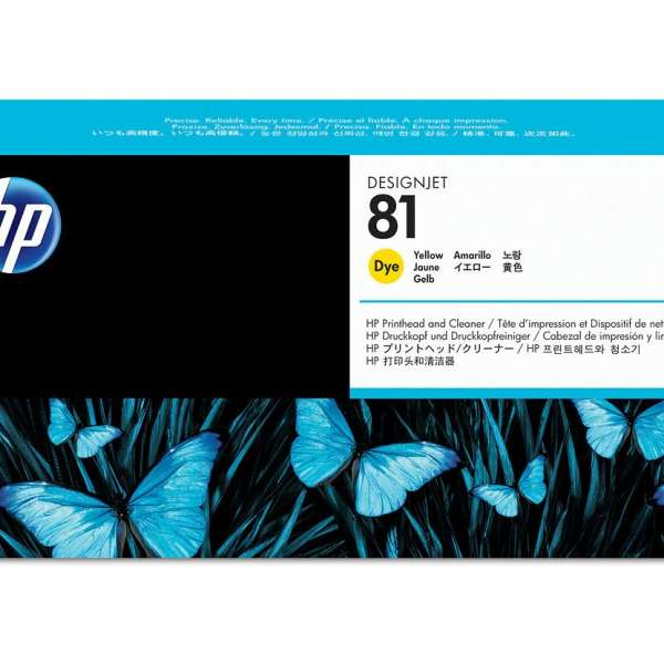 HP No. 81 Dye Ink Printhead and Cleaner - Yellow
