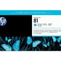 HP No. 81 Dye Ink Printhead and Cleaner - Light Cyan