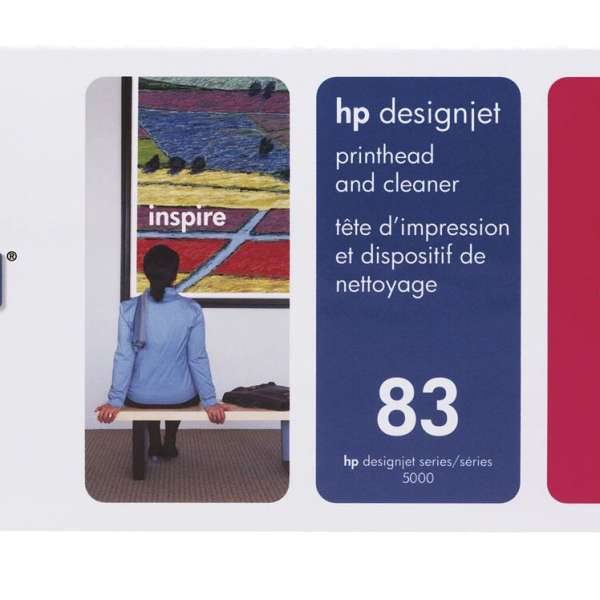 HP No. 83 UV Ink Printhead and Cleaner - Magenta
