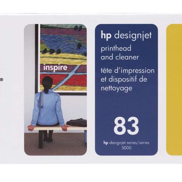 HP No. 83 UV Ink Printhead and Cleaner - Yellow