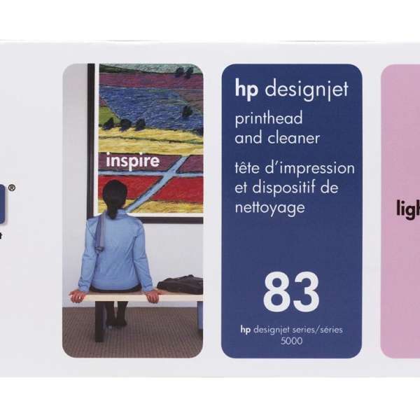 HP No. 83 UV Ink Printhead and Cleaner-Light Magenta