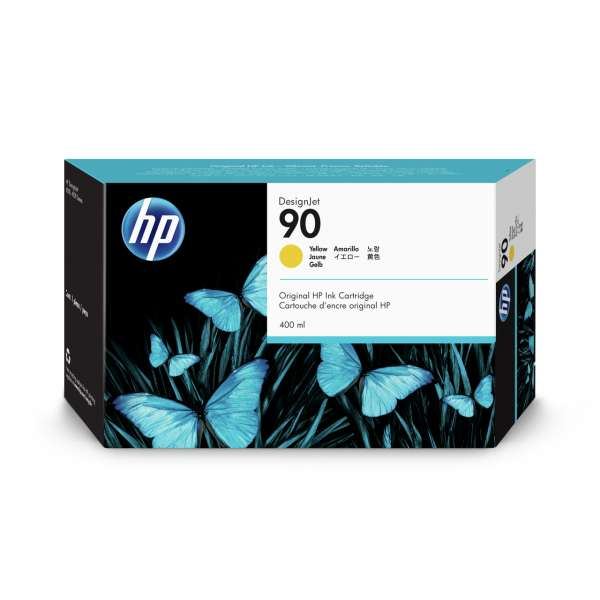 HP No. 90 Ink Cartridge Yellow - 400ml