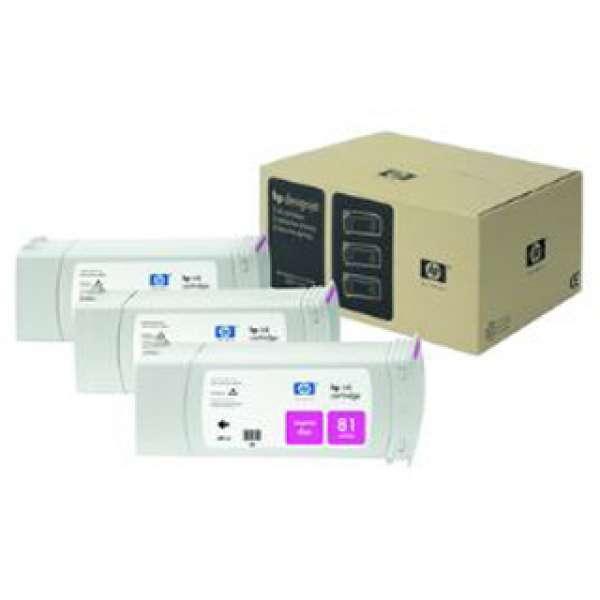 HP No. 81 Dye Triple pack - Magenta 680 ml