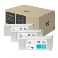 HP No. 83 UV Triple pack - Cyan