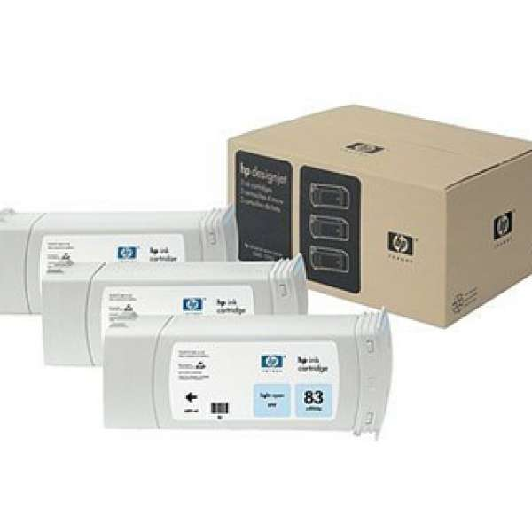 HP No. 83 UV Triple pack - Light Cyan