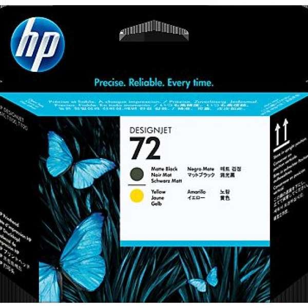 HP No. 72 Ink Printhead - Matte Black & Yellow